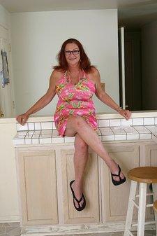 Busty Redheaded Sexy Granny1